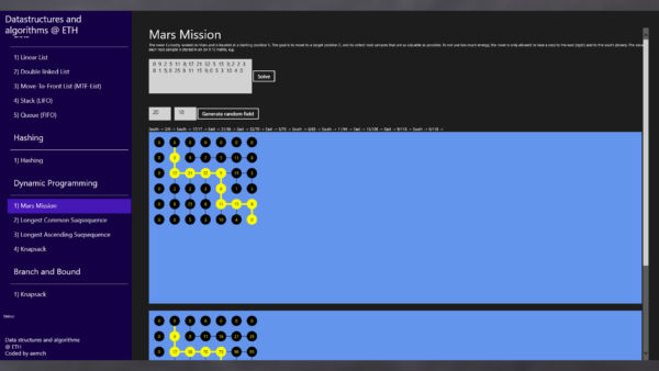 Dynamic Programming: Mars Mission